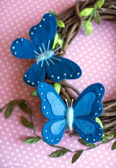 Learn how to create sweet and simple felt butterflies with our downloadable templates and tutorial. Felt fun for everyone!