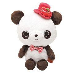 San-X Chocopa panda bear with top hat plush toy
