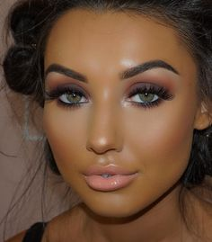 How To Get A Soft Glam Makeup Look Awesome makeup look with soft pink color tone Tan Skin Makeup, Flawless Makeup, Gorgeous Makeup, Pretty Makeup, Love Makeup, Hair Makeup, Awesome Makeup, Green Makeup, Makeup Looks For Green Eyes