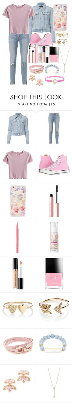 """""""No2 Oc Hunter- Outfit 3"""" by moon-and-starss ❤ liked on Polyvore featuring J Brand, Frame, Converse, Sonix, Too Faced Cosmetics, Benefit, Butter London, Jennifer Meyer Jewelry, EF Collection and Salvatore Ferragamo"""