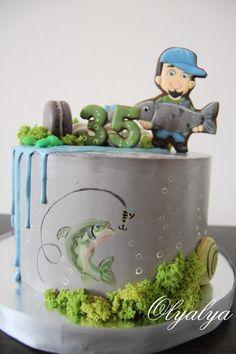 67 Trendy Birthday Cake For Men Fishing Birthday Wishes For Kids, Birthday Cakes For Men, Cake Birthday, Funny Birthday, Birthday Parties, Cake Mix Pancakes, Cake Designs For Girl, Cake Mix Desserts, Dad Cake