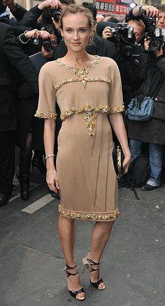 La princesa y la actriz y modelo alemana han lucido este diseño de Alta Costura de la firma francesa