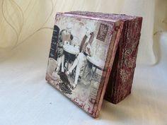 Shabby Chic Jewelry Box Small Keepsake Box by TwoCatsAndAnOwl