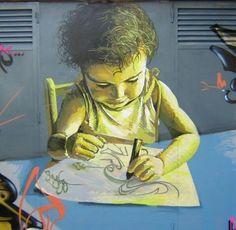 Graffiti de Belin em 2004