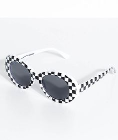 d42826a560f1 Petals   Peacocks Nevermind White Checkerboard Sunglasses