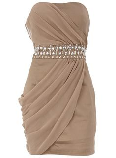 Love the nude color and the draping.