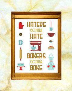 Bakers Gonna Bake Cross Stitch Pattern PDF by EastBayStitch