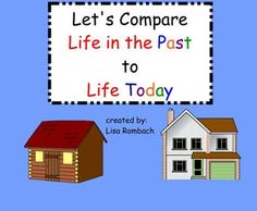 Life in the Past, Life Today  SmartBoard Lesson for Primary grades (includes 5 printable response sheets for students to compare various aspect of life today to the past - there are 2 versions of each form so you can differentiate)  (.notebook file) $