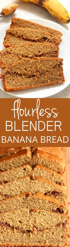 Peanut Butter Banana Blender Bread recipe - this quick bread couldn't be faster…