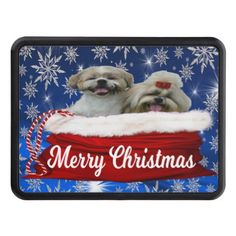 Shih tzu Hitch Cover Christmas Hitch Cover - dog puppy dogs doggy pup hound love pet best friend