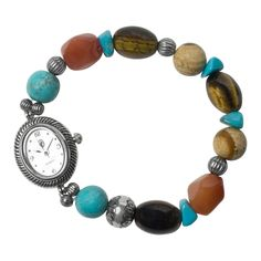 Southwest Bright Beads Stretch Watch $69.99 carolynpollack.com made in usa