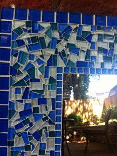 Mosaic Wall Mirror Large Mirrors Custom by GreenStreetMosaics, $75.00