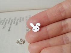 sterling silver bunny rabbit pin/ lapel pin/ tie tack by huiyitan, £20.00