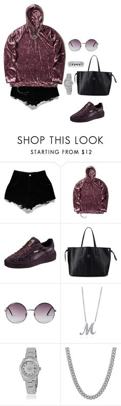 """Untitled #890"" by msnh ❤ liked on Polyvore featuring nono, Puma, MCM, Monki, BERRICLE, Rolex, Sterling Essentials and King Ice"