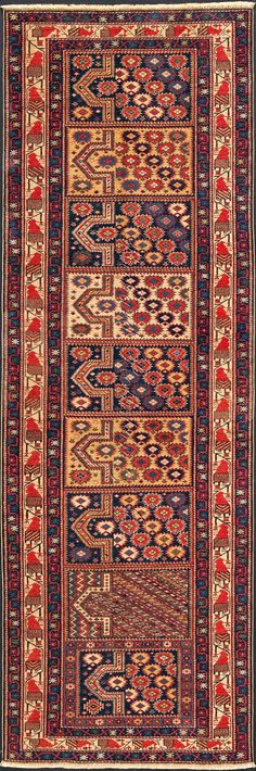 "Caucasian Shirvan Rug: Shirvan Rug with small prayer Rug design Size: 2' 11"" x 8' 7"""