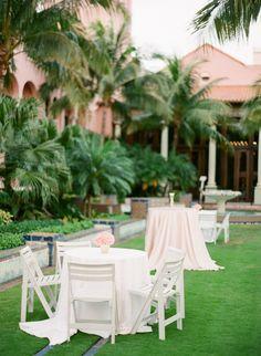 Tables on the lawn: http://www.stylemepretty.com/little-black-book-blog/2014/10/10/boca-raton-resort-wedding-full-of-tropical-elegance/   Photography: Justin DeMutiis - http://justindemutiisphotographyblog.com/