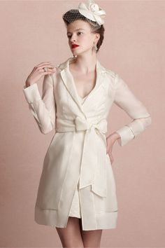 The only spring/summer bridal cover-up I've seen that wont leave you shivering come evening. Jetsetter Coat from BHLDN Wedding Dress Topper, Wedding Dresses, Bridal Cover Up, Honeymoon Outfits, Dressed To The Nines, Bhldn, Feminine Style, Beautiful Outfits, Beautiful Clothes