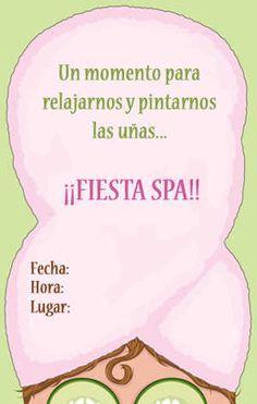 Invitación de Fiesta de Spa Más