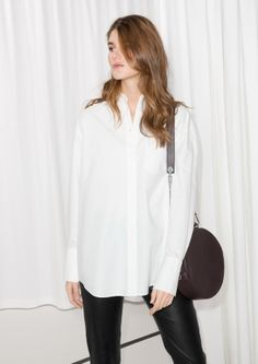 & Other Stories image 2 of Oversized Button Down Shirt in White