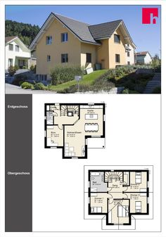 "Grosszügige Raumgestaltung This home was developed on the basis of our basic concept ""the country house"". The individual planning offers generous spac Ground Floor, Floor Plans, Concept, Flooring, Inspiration, Country, House, Bedrooms, Room"