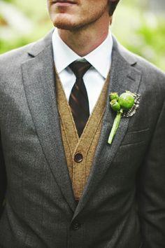 modern winter groom style