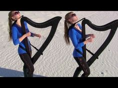 DREAM ON (Aerosmith) Harp Twins - Camille and Kennerly