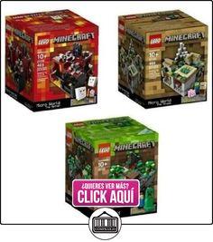 Minecraft Lego Collectible 3 Piece Set - (The Original) Minecraft 21102, the Village 21105, the Nether 21106. (Recommended Age 10-15 Yrs)(Versin EE.UU., importado)  ✿ Lego - el surtido más amplio ✿ ▬► Ver oferta: https://comprar.io/goto/B00GGANMGC