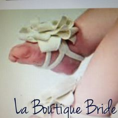 Footless Baby Bootie/Sandal Blossom  beaded by LaBoutiqueBride on Etsy, $20.00