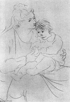 Pablo Picasso >> Mother and son