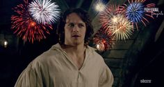 Outlander wedding fireworks. So funny if you have seen the ep.