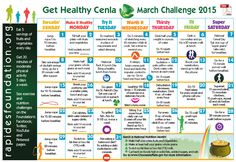 Here's the March Challenge Calendar! March is National Nutrition Month...use our daily fitness and nutrition challenges to improve your health!