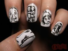 most unexpected nail art! LOVE shel silverstein's work & it was done exquisitely by @thedailynail :)