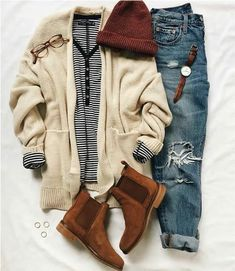School outfit ideas for daily looks casual outfits - Casual Outfit Cute Fall Outfits, Casual Winter Outfits, Trendy Outfits, Spring Outfits, Mode Outfits, Girl Outfits, Fashion Outfits, Womens Fashion, School Outfits