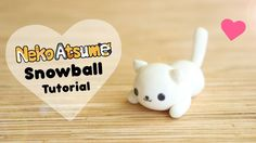 Neko Atsume Simple Snowball │ Polymer Clay Tutorial