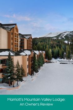 Marriott's Mountain Valley Lodge: Stretch, Ski, S'Mores and Soak Marriott Vacation Club, Winter Vacations, Lodges, Skiing, Colorado, Mountain, Cabin, House Styles, Travel