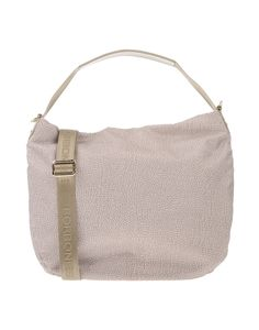BORBONESE . #borbonese #bags #shoulder bags #hand bags #polyester #leather #hobo #