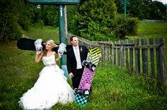 Snowboard Themed Wedding