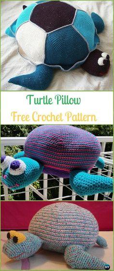 Crochet Amigurumi Turtle Pillow Free Pattern - Crochet Turtle Amigurumi Free Patterns