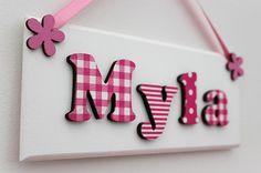 Children S Wooden Bedroom Door Sign Name By Flitterbeecrafts