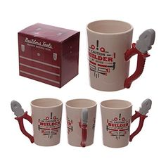 Shop for Puckator Funky Builders Pliers Shaped Handle Ceramic Mug. Novelty Mugs, Novelty Items, Novelty Gifts, Mugs Uk, Work Gifts, Design Your Dream House, Cool Mugs, Matching Gifts, Mugs For Men
