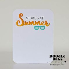 """TECHNIQUE TUESDAY: Summer Adventure (4"""" x 6"""" Clear Photopolymer Stamp) This clear photopolymer stamp set is great for your cards, pocket scrapbooks, and more."""