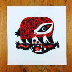 Till Hafenbrak Flat Color, Badger, Adobe Illustrator, Illustrators, Graphic Design, Shapes, Printmaking, Instagram Posts, Artist