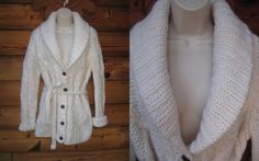Victoria's Secret PINK 100% Wool Size M Heavy  Knit Belted Cardigan Sweater NEW #VictoriasSecret #Cardigan