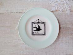 Woodland Bird // Modern Shabby Chic Sign // Sparrow by SweetMeas, $20.00