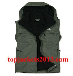 The North Face Outlet Mens Summit Series Hoodie Vest Green Black