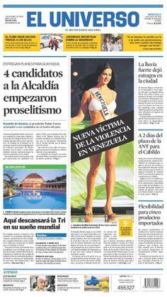 Portada de #DiarioELUNIVERSO del miércoles 8 de enero del 2013. Las #noticias del día en: www.eluniverso.com #Ecuador