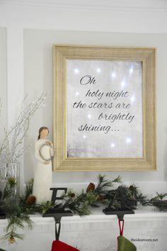 DIY Lighted Christmas Sign | theidearoom.net