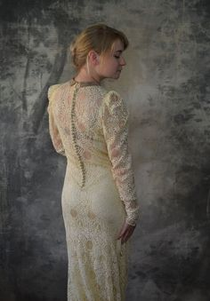 1940s Spiderweb Lace Wedding Dres by Petrune on Etsy, $350.00