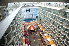 We love the view from up here! Oasis of the Seas #cruising #travel