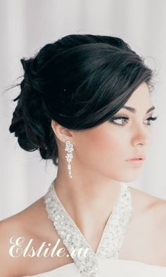 Wedding Hairstyles ~ Loose updo & neutral make-up